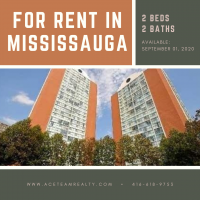 2 Bedroom 2 Bath Condo Apartment for Lease in Mississauga, Ontario, Canada
